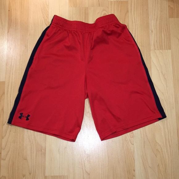 Under Armour Youth Boys Heat Gear Shorts NWT Gray Blue